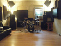 Excellent Music Rehearsal Studios Available for Hourly Rental!