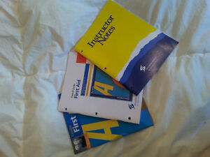 Lifesaving society Instructor Notes, first aid guide, and manual