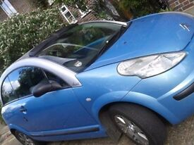 C3 Pluriel 1.6 semi auto convertable car. It has a private plate worth over £600