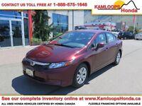 2012 Honda Civic Sdn LX *Spacious Interior & Ext. Warranty!*