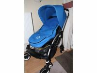 Bugaboo Bee Plus with blue hood