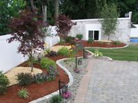 Final Grade, Sod, Patio, Trees **Full Landscaping Company**
