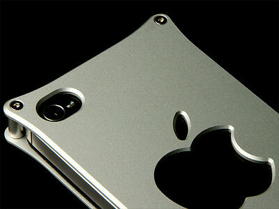 Abee Aluminum Jacket For iPhone 4 Pattern 05 Silver
