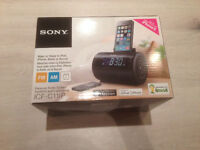 Sony IPhone /IPod Personal Audio System  Alarm Clock and Speaker