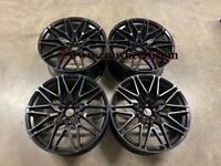22″ Inch Staggered X5 X6 X7 818M Style Alloy Wheels 5x112 G05 GO6 G07 Black 66.6