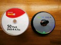 17 single use blank DVDs for sale, 4•7 GB each 6 hours of videos