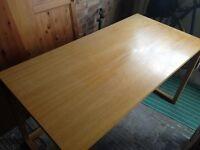 Wood Desk Excellent Condition Beech Effect
