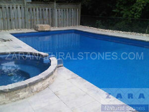 Silver Grey Pool Coping Gray Limestone Pool Coping Border Edge