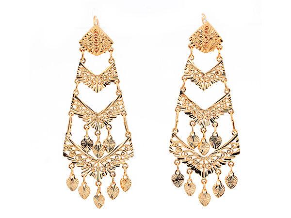 Gold Chandelier Earrings Buying Guide | eBay
