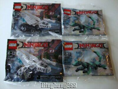 LEGO The Ninjago Movie 30427 Ice Tank & 30428 Green Ninja Mech Dragon Polybags