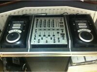 2x Numark Axis 9 CD Player Decks & Kamkase Coffin Flightcase