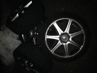 Summer tires with mags 205/45 R16 -500$