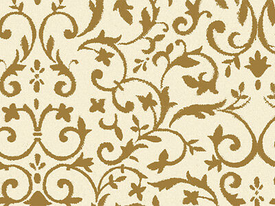 "Gold ""Floral Ivy"" Florentine on Kraft Tissue Paper Gift Wrap"