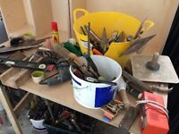 **HAND TOOLS**£1 EACH**CHISELS**BOLSTERS**SCREWDRIVERS****£2 - HAMMERS**