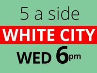 Play friendly football every Wednesday at White City.