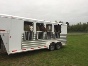 Exis 2018 4 horse slant load with tack room