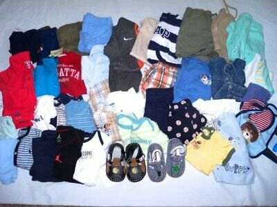 Huge 42 pc Spring Summer Boys Baby Clothes Lot 0-6 mo 4 New Childrens Place