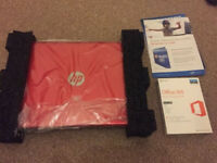 Brand new in box unused HP Laptop 14 inch screen 4 gb RAM 128 gb SSD 1.7kg with package of software