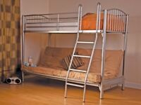 sweet dreams bunk bed with charcoal futon triple sleeper