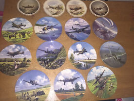RAF collectible plates with certificates