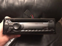 Sony CDX GT270MP stereo with front aux port