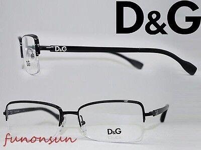 Dolce & Gabbana Women's Eyeglasses D&G 5107 01 Black Half Rimles Rectangle Frame