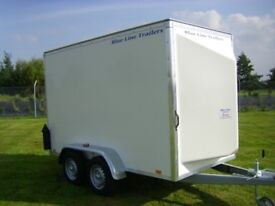 10' x 5' x 6' Tandem Axle Box Van Trailer - Blue Line