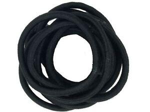 Black Snag Free Hairband Hair Elastics School Bobbles No Metal