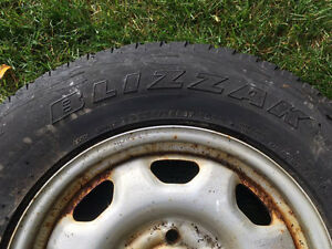 Bridgestone Blizzack winter tires P235 65 R17
