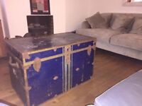 Large military chest coffee table