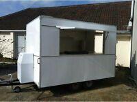 10 x 6 box trailer mobile catering burger van single axle