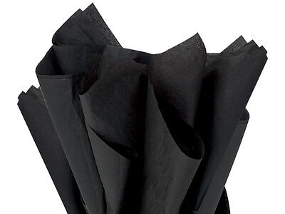 """BLACK Tissue Paper for Gift Wrapping 15""""x20"""" Sheets Eco-Frie"""