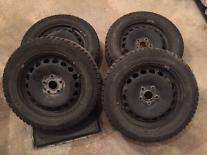 Gislaved nord frost 5 winter tires on rims