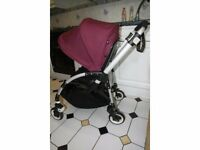 Bugaboo Bee Plus with purple canopy