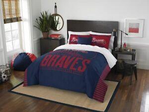 """Atlanta Braves Bedding Full/Queen Comforter & Shams Set OFFICIAL MLB """"Grand Slam"""