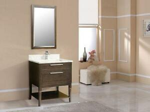 "Elegant and refined design, 31 & 49"" Vanity in Antique Coffee"