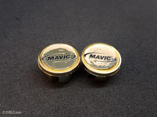 Vintage style Mavic gold Handlebar End Plugs