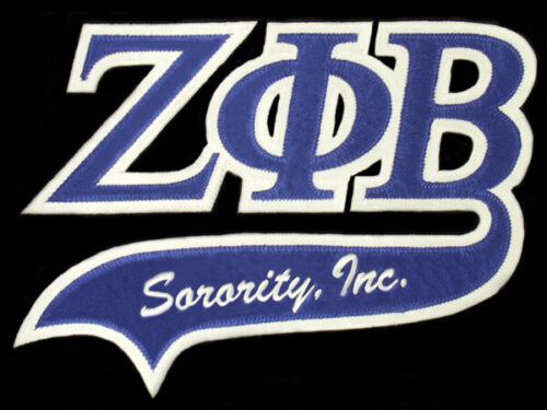 "Zeta Phi Beta 10 1/2"" Letters Swoosh Logo Patch NEW!!"