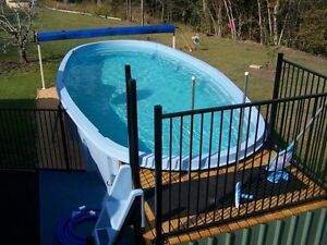 Fibreglass Above Ground Swimming Pool 7.4m Long 3.4m wide Noosaville Noosa Area Preview