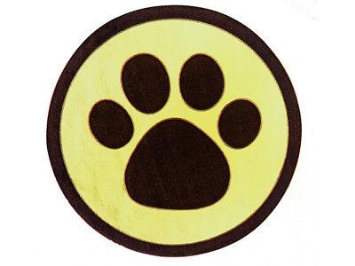 Black Paw Print GOLD Back Round Gift label Sticker 1-1/2