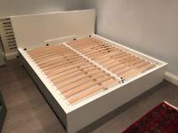 IKEA Super King Malm Ottoman Storage Bed ( New Condition )