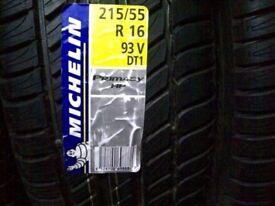 2 x Michelin Primacy HP tyres. 215/55 R16 (93V)