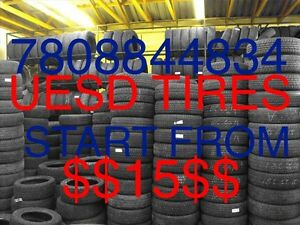 Used tires start from 15$ repairs tires 15$7808844834