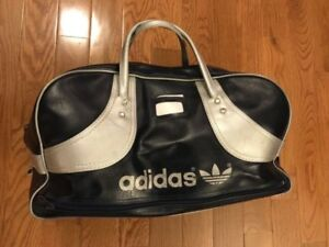 Vintage Adidas bag -  Blue and Silver