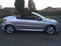 2004 54 Peugeot 206cc Convertible hardtop ONLY 69k Miles!! Immaculate condition