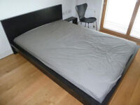 king size Ikea malm bed frame dark NO MATTRESS FRAME ONLY