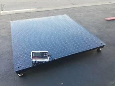 Floor Scale Heavy Duty Platform 48 X 48 2500 X .5 Lb Digital Indicator