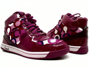 Coach purple Natalee High Top Sneakers