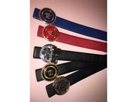 versace leather belts for only £25 each