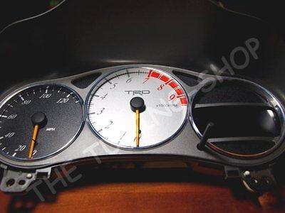 For Toyota Celica MK7 99-06 Aluminium Dial Gauge Rings x 3 Chrome Trim Surrounds